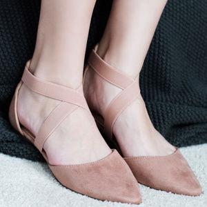 Elastic Criss Cross Ballet Flats